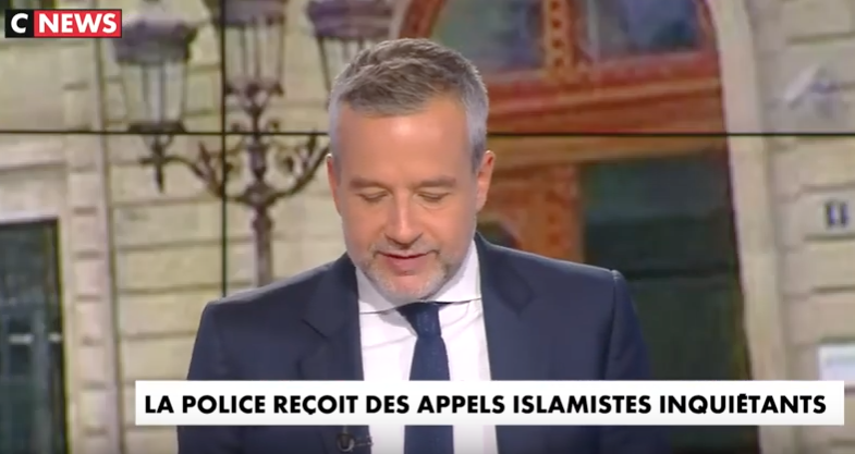 Extrait des menaces islamistes envoyés aux policiers ces derniers jours.
